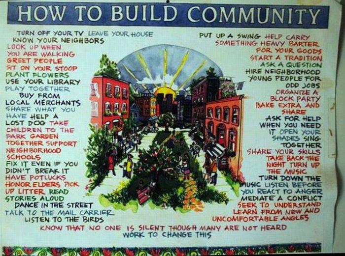 construir comunidad